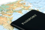 World map and passport