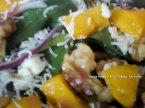 Raspberry Mango Candied Walnut Daydream Salad