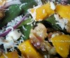 Raspberry Mango Candied Walnut Daydream Salad